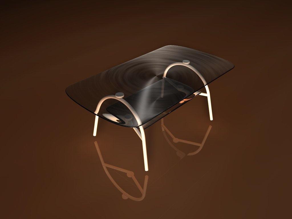 glass coffe table 3d model