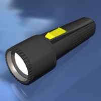 3d flash light model