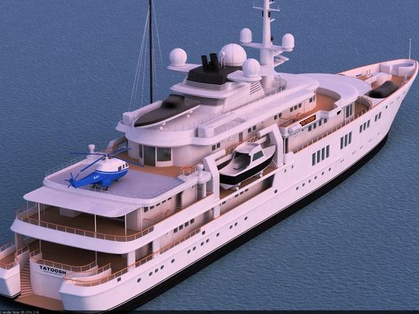 superyacht tatoosh yachts 3d max