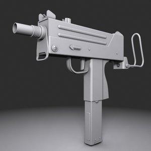 3d mac machine pistol model
