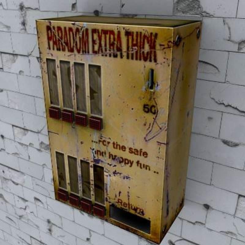 3ds old condom machine