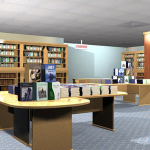 3ds scene bookshop -