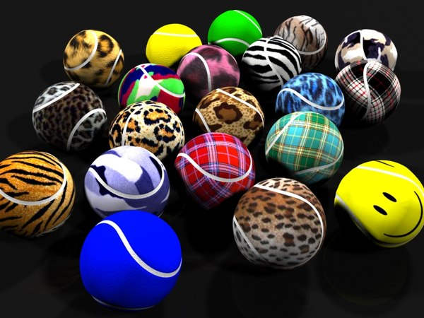 exotic tennis balls 3d 3ds