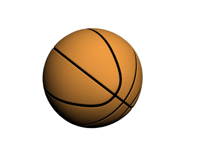 basket ball 3d max