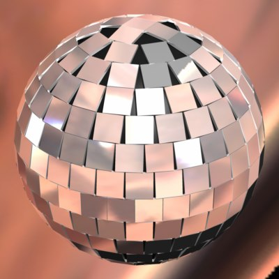 3d reflective disco ball