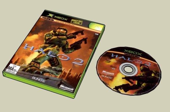 halo 2 box cd 3d 3ds