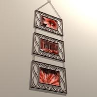 3d model trendy frame decoration