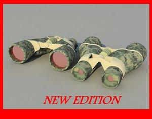 binocular military army 3d model