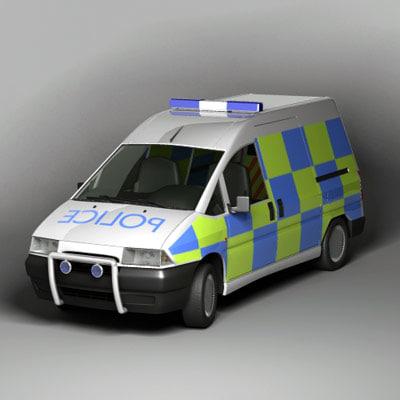 uk van police 3d max