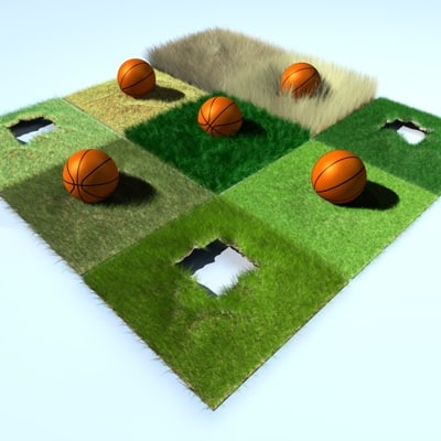 grass soccer field presets 3d model