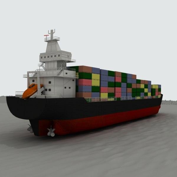 3d model cargo tanker ship