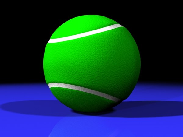 3d model professional tennis ball