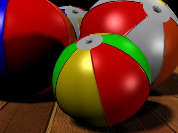 3ds max beach ball