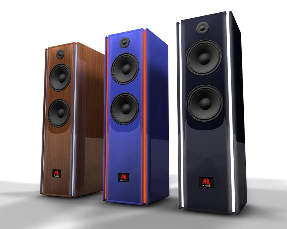 3d c4d loudspeaker boxes