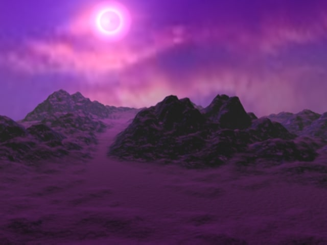 3d model of terrain fog
