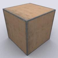 wooden box crate 3d model WB03