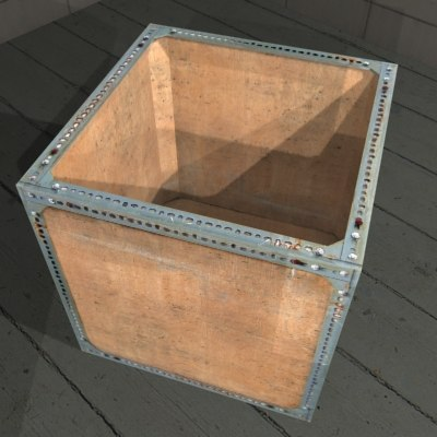 3ds metal crate