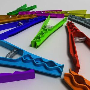 3d max peg clothespin
