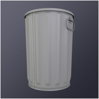 Steel trash can (HD)