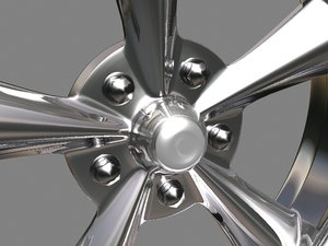 awesome rim tires wheel 3d max