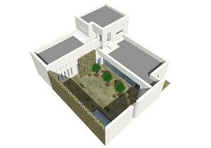 3ds max sub saharian house modern