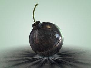 bomb spherical 3d c4d