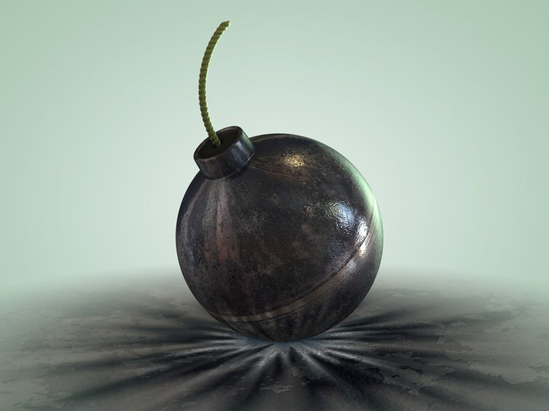 bomb spherical 3d c4d