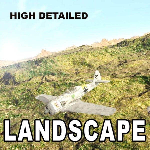 3d model landscape scene terrain ground