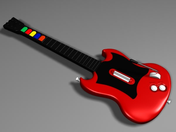 3ds max realistic guitar hero gibson sg