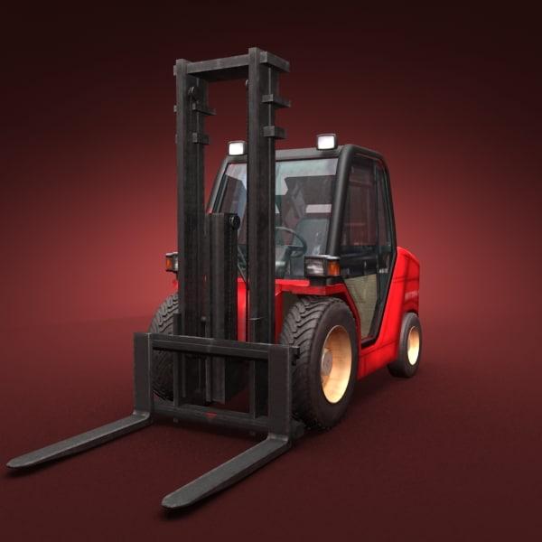 fork lift truck 3d model