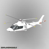 agusta a-109e generic white 3d model