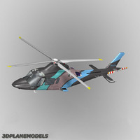 agusta a-109e private livery 3d model