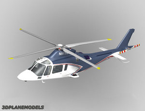 3d model of agusta a-109e private livery