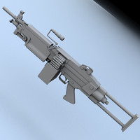3d m249 saw rifle model