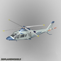 agusta a-109e private livery 3d model