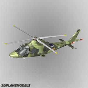 3d model agusta a-109e power sweden
