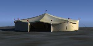 3d carnival tent model