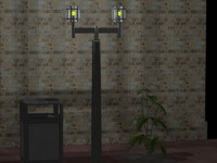 3d office street lamp