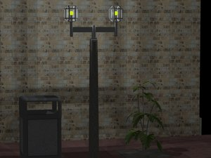 3d office street lamp