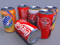 3d soft drink model