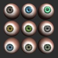 eye eyeball ball 3ds