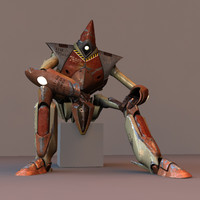 robot rigged 3d model