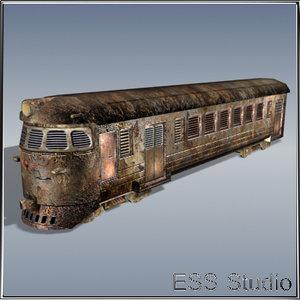 post locomotive train 3ds