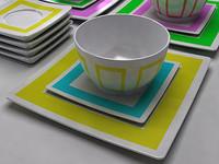 3d luminus dinner dining set model