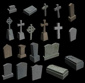 cemetary generic gamestudio 3d model
