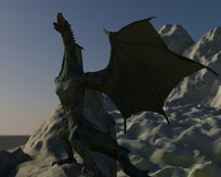 dragon rigged animation 3d model