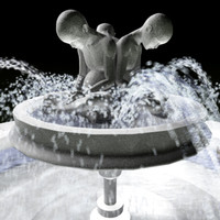 Fountain with animated water