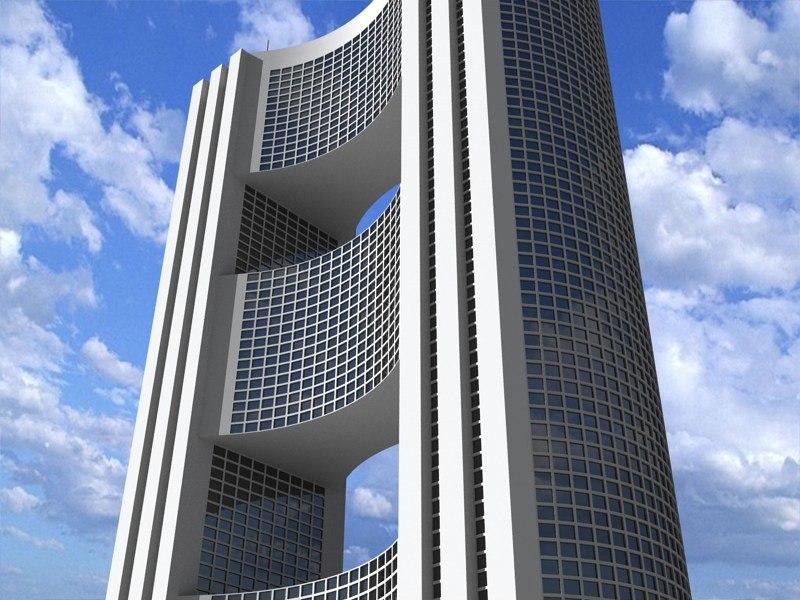 3ds futuristic building 2