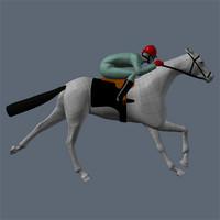 racing horse 3d model