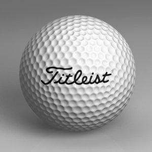 golf ball 3d